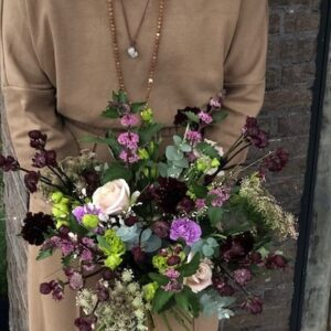 Purple winter glow bouquet