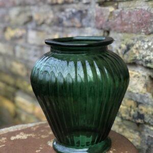 Glazen vaas (groen)