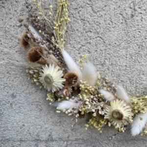 Droogbloemen krans Lovie